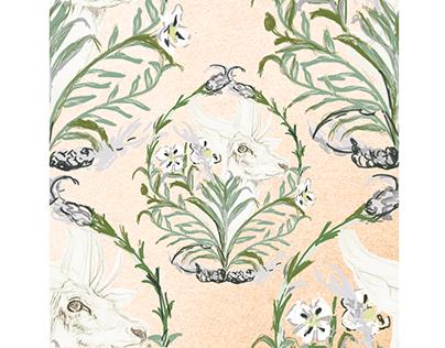 pattern ciervo y jara