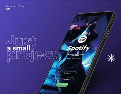 Spotify App Redesign - Personal UI Project 001