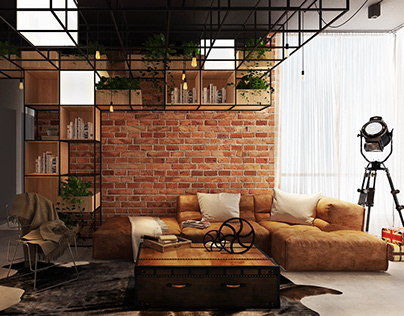 3D   Industrial Style Holiday Home