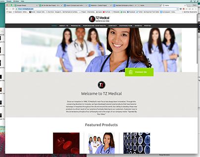 Web Site Design for TZ Medical