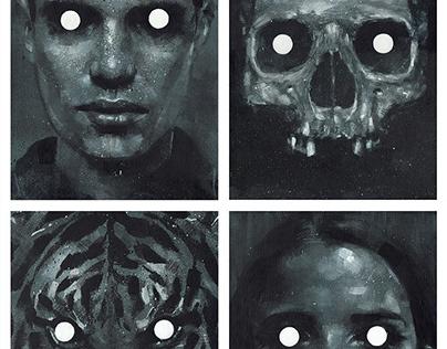 'Watchers' - acrylic paintings
