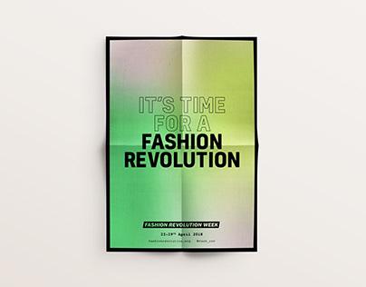 Fashion Revolution 2018 campaign branding