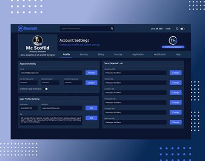 User Profile Setting - Web UI