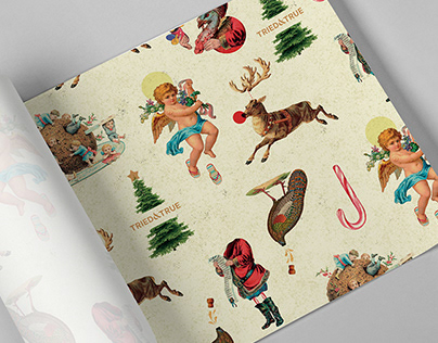 Christmas Wrapping Paper — Collage