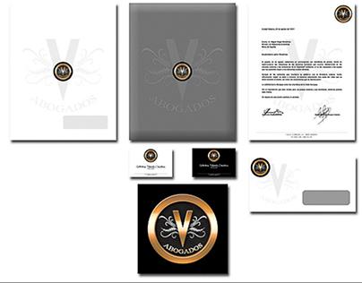 """""""V"""" abogados / logotipo"""