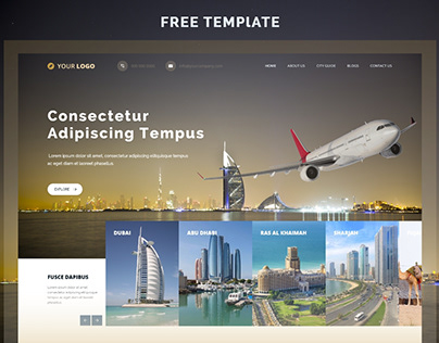 Free Template - Adobe XD