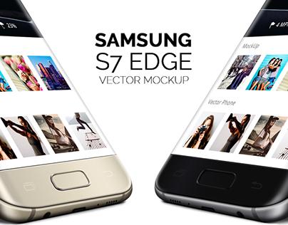 Samsung Galaxy S7 Edge Vector Mockup