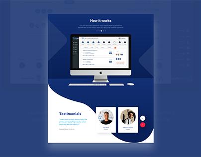 UI/UX design for Implementing Testimonials on Website