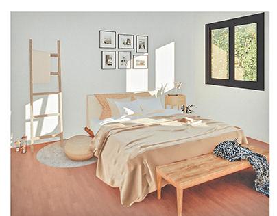 Diseño de interior dormitorio
