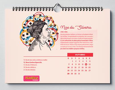 Calendário Ilustrado - Mulheres que inspiram
