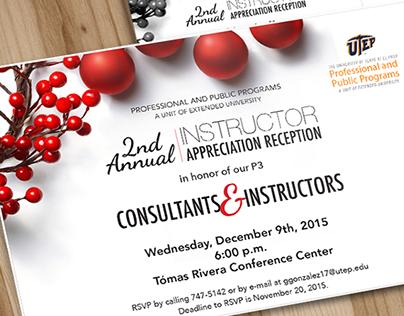 UTEPs P3 2nd Annual Instructor Appreciation Reception