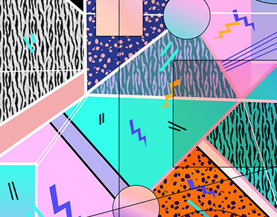 80s 90s Inspired Pattern and Graphics