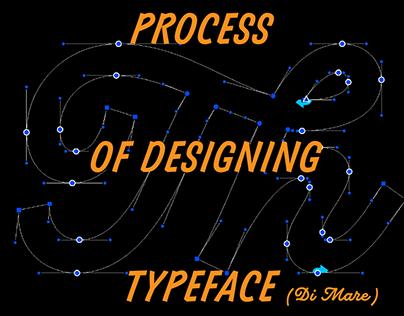 Process of designing typeface (Di Mare)