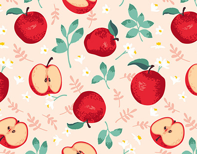Seamless patterns | Fruits
