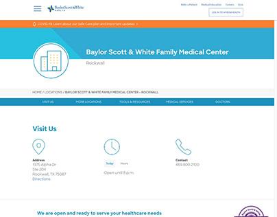 Samples of work from Baylor Scott & White Health