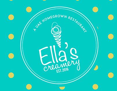 Ella's creamery brand identity project