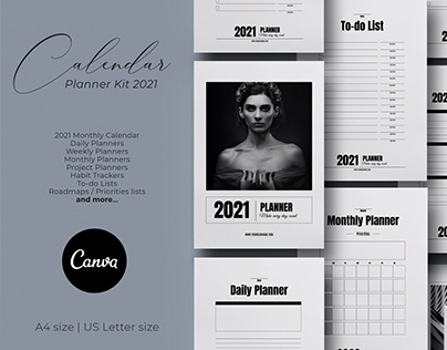 2021 Canva Planner | Calendar Kit