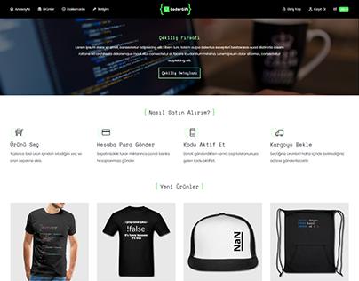 Programmers eCommerce Website Landing Page