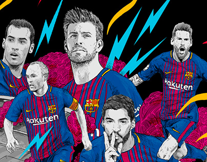 Illustrations for FC Barcelona Merchandising
