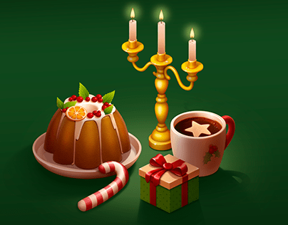 2D game props for Christmas event