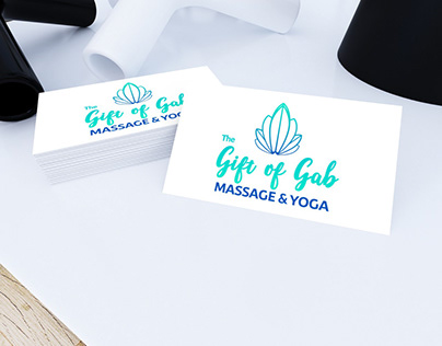 Logo Design For The Gift Of Gab Massage & Yoga