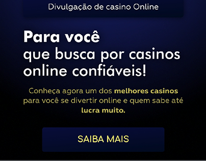 Landim Page Para Casino Online