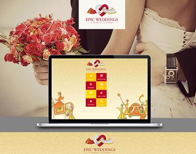 Epic Wedding - Web Design