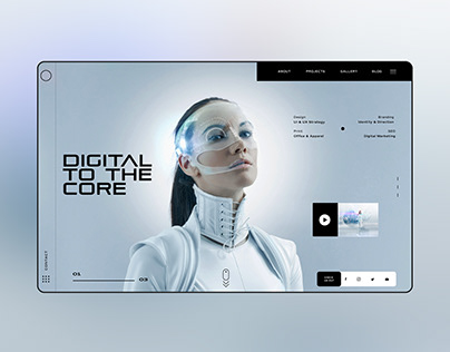 Digital To The Core Ui Design Landing Page