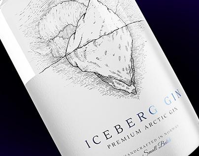 Iceberg Gin Concept Label