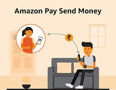 Amazon Pay Send Money campaign illustrations