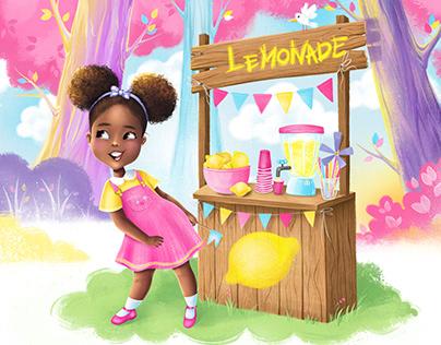 """Children book - """"Journee Makes Lemonade"""""""