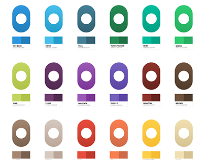 Colour Palette with Gradients