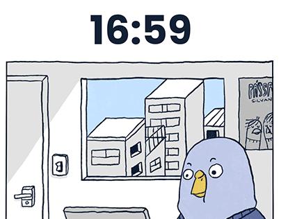 Desastre as 17h