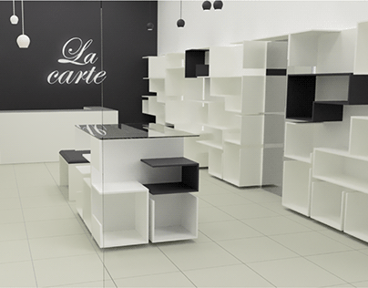 Furniture design for womans bags store