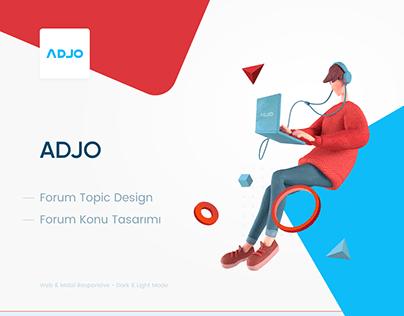 Adjo Topic Design
