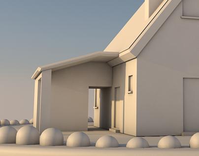 3D House Modelling Cinema 4D⎪Self-taught