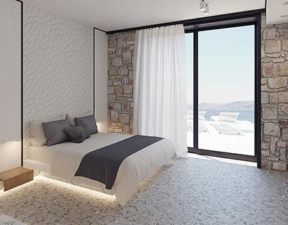 Luxury villa at Mykonos interiors