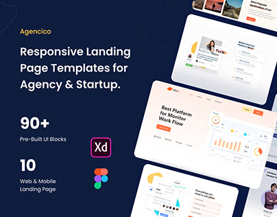 Landing Page Templates For SaaS, Agency & Startup