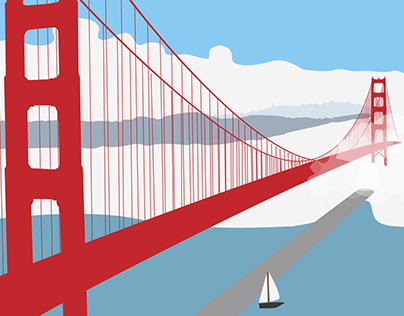 Ilustración Golden Gate Bridge