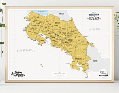 Costa Rica Scratch Map