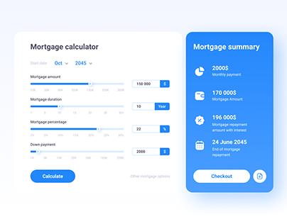 Dailyui 004 - Mortgage calculator