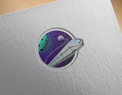 Icône agence de voyage spatiale