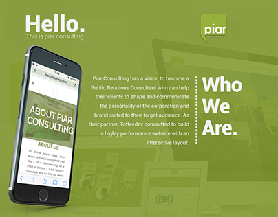 Company Profile for Piar Consulting Website