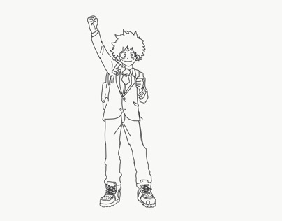 Deku Anime Coloring Pages My Hero Academia - Hd Football | 316x404