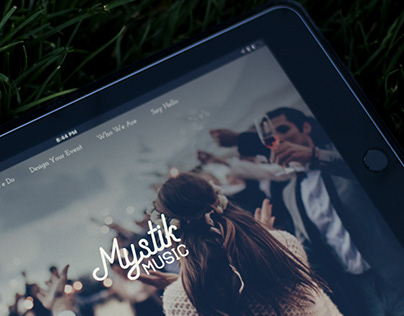 Mystik Music - Wedding DJ Website & Branding