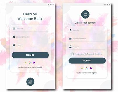 Color apps ׀ UI Design ׀ Sign