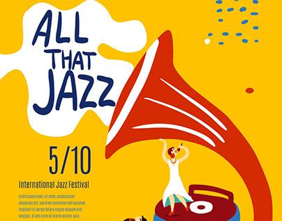 Jazz Music Band Poster