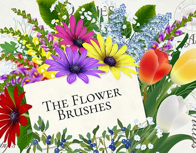 My floral Illustrator brushes.