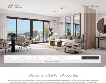 De Faria Properties Website