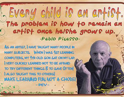 Think like an artist-child!
